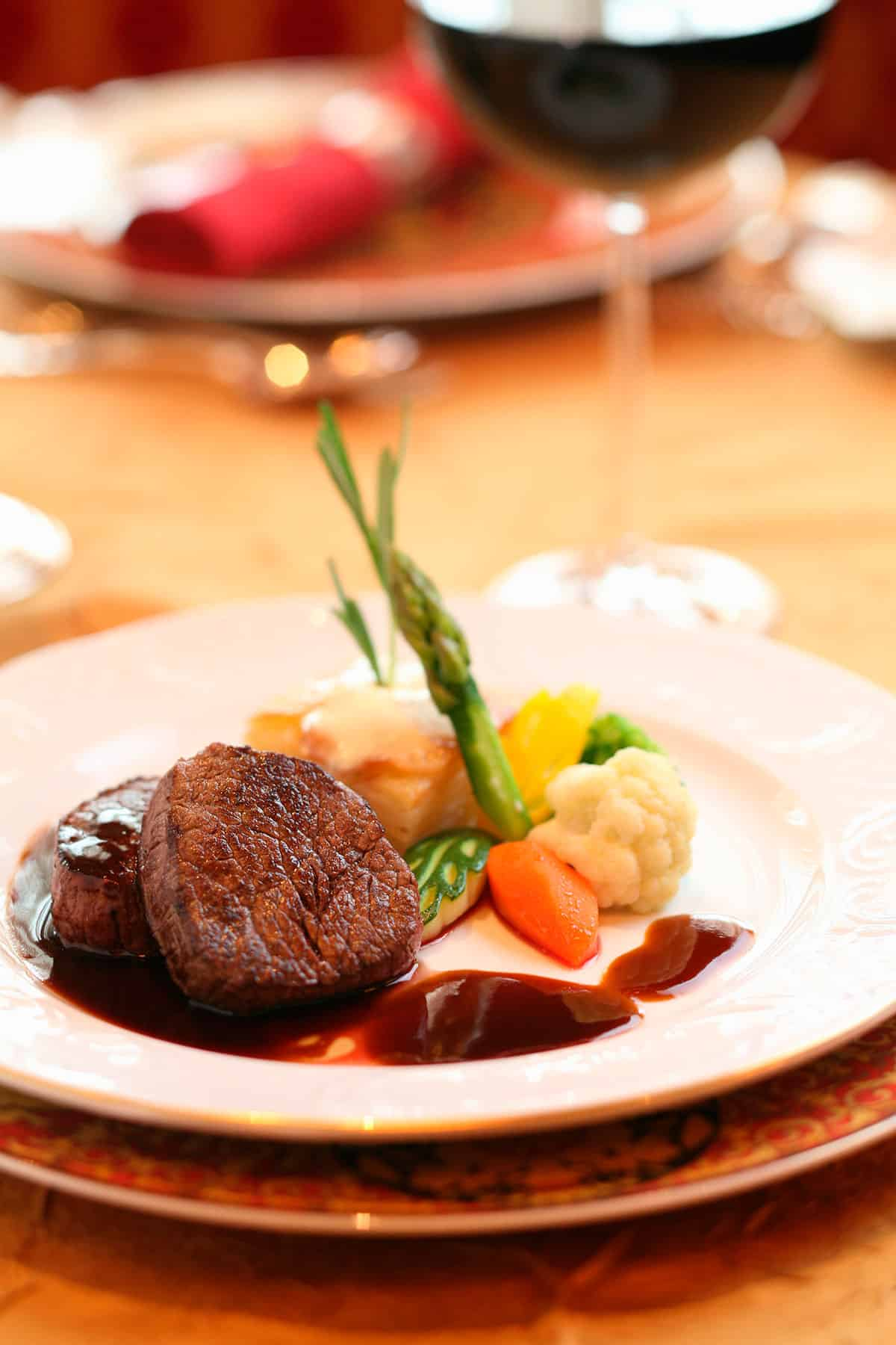 Beef Steak with Red Wine Sauce